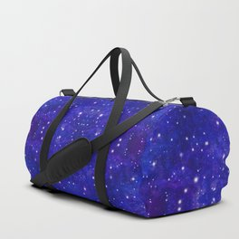 Fractal Galaxy Blues Duffle Bag