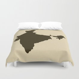 Chocolate Spice Moods India Duvet Cover