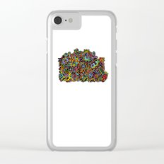 Doodle Machine Clear iPhone Case