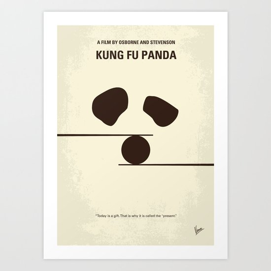 No227 My KUNG FU Panda minimal movie poster Art Print