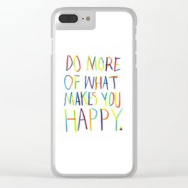 Positive Quote Clear iPhone Case