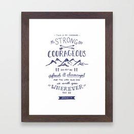 Joshua 1:9 (Navy) Framed Art Print
