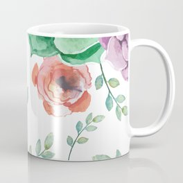 FLOWERS WATERCOLOR Coffee Mug