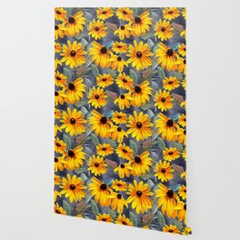 Black-eyed Susan Pattern Wallpaper