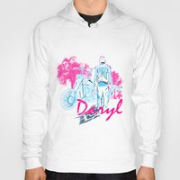 daryl Hoodies featuring Daryl Drive by Tracey Gurney