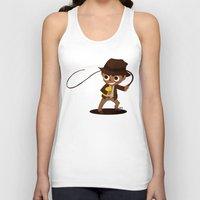 indiana Tank Tops featuring Indiana Jones by Delucienne Maekerr