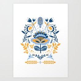 Scandinavian Folk Art 011 Art Print
