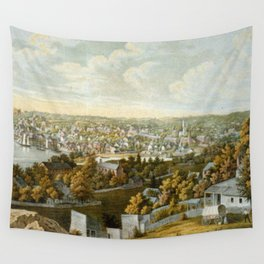 Vintage Pictorial Map of Georgetown (1855) Wall Tapestry