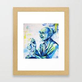 Happy End by carographic, portrait art Framed Art Print
