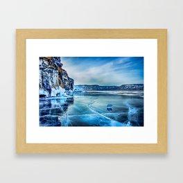 Lake Baikal. March Framed Art Print