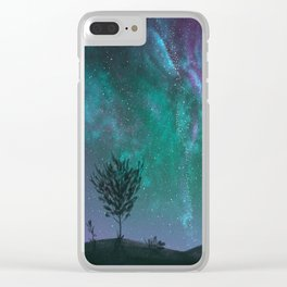 Under The Sky Full Of Stars, I'd Still Stare At You Clear iPhone Case