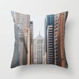 LaSalle Street Canyon Throw Pillow