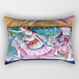 """Edgar Degas """"The curtain falls"""" Rectangular Pillow"""