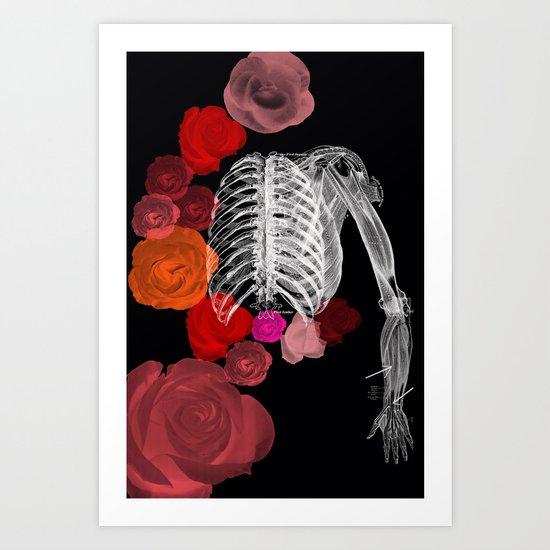 J.M.A. (Skeleton) Art Print