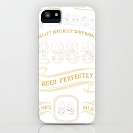 34th-Birthday-Gift-Gold-Vintage-1983-Aged-Perfectly iPhone Case