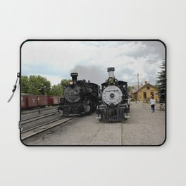In the Passing Lane at Chama Depot Laptop Sleeve