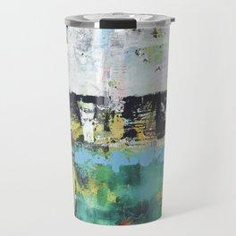 Aloe Abstract Painting Green Travel Mug