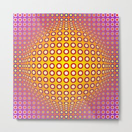 Vasarely style Metal Print
