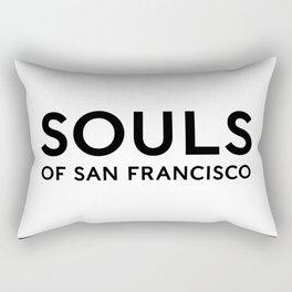 Souls of San Francisco - Black Text/White Background Rectangular Pillow