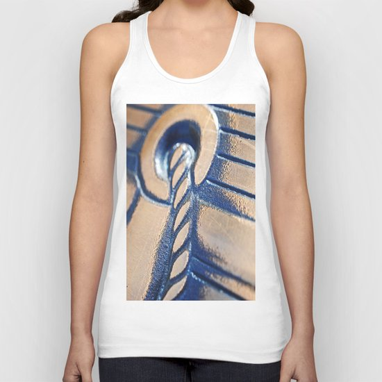 Abstract and Gold Unisex Tank Top