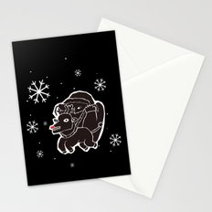 black christmas Stationery Cards