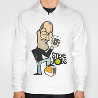 steve jobs Hoodies featuring STEVE JOBS by Valter Brum
