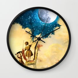Painting Stars Wall Clock
