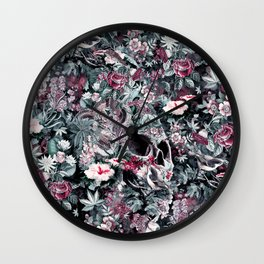 Skull Forest Wall Clock