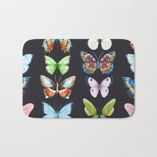 Butterfly Pattern 06 Bath Mat