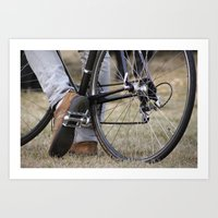 cycle Art Prints featuring Cycle by Nicole Webb