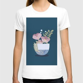 Flowers in Marbleised Vase 1# T-shirt