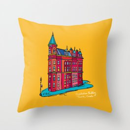 gooderham building Throw Pillow