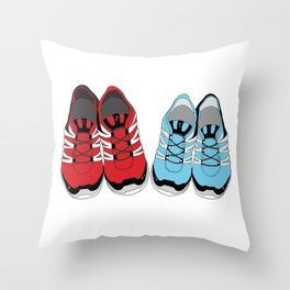 Sporty Shoe Love Throw Pillow