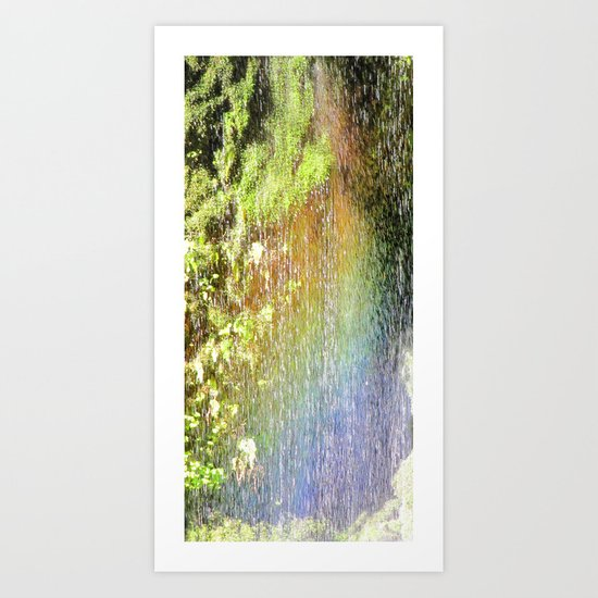 Rainbow Waterfall Art Print