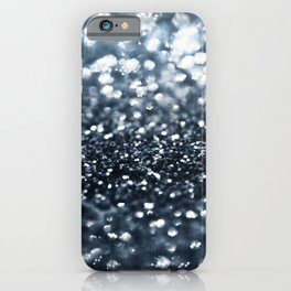 Midnight Navy Blue Glitter #1 #shiny #decor #art #society6 iPhone Case