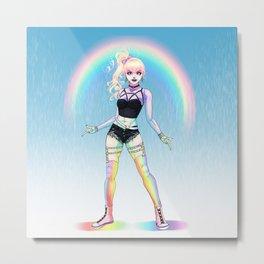 Rainbow Dark Metal Print
