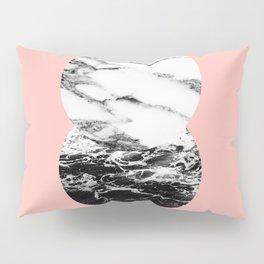 two marble circles on peach Pillow Sham