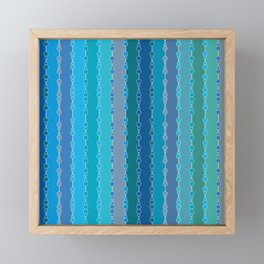 Multi-faceted decorative lines 7 Framed Mini Art Print