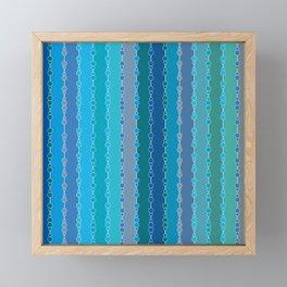 Multi-faceted decorative lines 7 Framed Mini Art Print