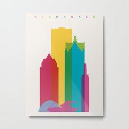 Shapes of Milwaukee. Accurate to scale Metal Print