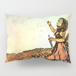 Blowing Bubbles on the Mountain Pillow Sham