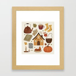 Autumn Cottage Days Framed Art Print