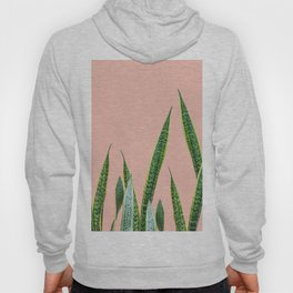 Snake plants with beige pink Hoody