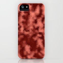 Dark Mottled Copper Rose Foil iPhone Case