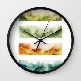 Watercolor seasons Wall Clock