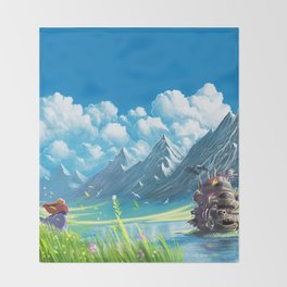 Howls Moving Castle Throw Blanket