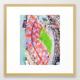 Neyland Stadium - Knoxville Tennessee - Watercolor Print Framed Art Print