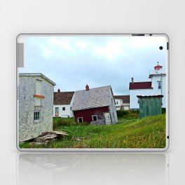 Lighthouse and shacks in North-Rustico PEI Laptop & iPad Skin
