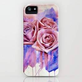 A ROSE BY ANY OTHER NAME- RED & BLUE  iPhone Case