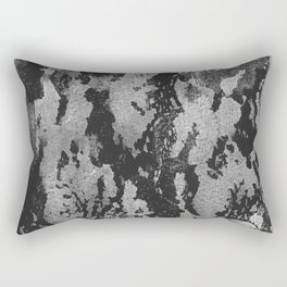 Space: black and white ink spills Rectangular Pillow